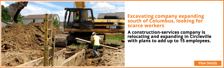 Excavating company expanding south of Columbus, looking for scarce workers
