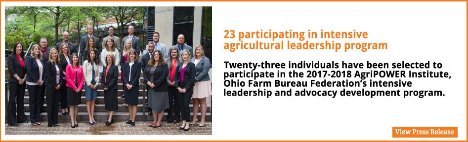 23 participating in intensive agricultural leadership program